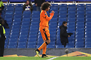 Amr Warda of PAOK FC (74) with hands together during the Champions League group stage match between Chelsea and PAOK Salonica at Stamford Bridge, London, England on 29 November 2018.
