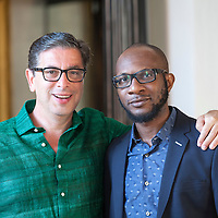 Antonio Monda and Teju Cole<br /> Le Conversazioni, Capri, Italy, 4 July 2015<br /> <br /> Photograph by Steve Bisgrove/Writer Pictures<br /> <br /> WORLD RIGHTS