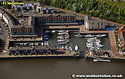 aerial photograph  St Peter´s Basin  Newcastle upon Tyne England UK