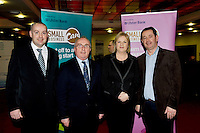 At the Ulster Bank Business Live event in the clayton Hotel Galway were, from right to left, Kevin O Malley Ulster Bank Michael O'Hare, OPTiM Financial Solutions with Mary Regan, Ulster Bank and Colm Feeney SSL(Source + Supply Logistics). Galway business professionals and entrepreneurs attend an event focused on international and cross-border trading – providing knowledge and guidance on new opportunities for businesses that are looking to expand their current reach for their products or services. The event, which took place on 6th February, was part of Ulster Bank's 'Business Live' series, running in association with Smallbusinesscan.com. The Ulster Bank Business Live events will run until March 5th 2012, appearing in key towns and cities in the Republic of Ireland and Northern Ireland. Further information about the Business Live events is available from Ulster Bank branches or at www.smallbusinesscan.com. Photo:Andrew Downes photography..
