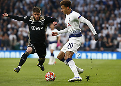 April 30, 2019 - London, England, United Kingdom - Tottenham Hotspur's Dele Alli.during UEFA Championship League Semi- Final 1st Leg between Tottenham Hotspur  and Ajax at Tottenham Hotspur Stadium , London, UK on 30 Apr 2019. (Credit Image: © Action Foto Sport/NurPhoto via ZUMA Press)