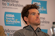 Greg Van Avermaet during the Eve of tour press conference ahead of the first stage of the Tour de Yorkshire in the Leeds Civic Hall, Leeds, United Kingdom on 1 May 2019.