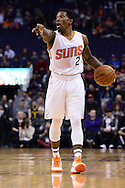 Jan 3, 2017; Phoenix, AZ, USA;  Phoenix Suns guard Eric Bledsoe (2) dribbles the ball up the court in the first half of the NBA game against the Miami Heat at Talking Stick Resort Arena. Mandatory Credit: Jennifer Stewart-USA TODAY Sports