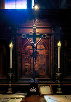 """Crucifix of the Basilica Sacristy inside the Patriarchal Cathedral of San Marco Venice""... <br />