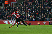 Football - 2016 / 2017 Premier League - Southampton vs. West Bromwich Albion<br /> <br /> Hal Robson-Kanu of West Bromwich Albion fires in from range to score for West Brom at St Mary's Stadium Southampton England<br /> <br /> COLORSPORT/SHAUN BOGGUST