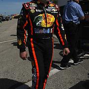 NASCAR Sprint Cup driver Tony Stewart  is seen in the garage area, during a NASCAR Daytona 500 practice session at Daytona International Speedway on Wednesday, February 20, 2013 in Daytona Beach, Florida.  (AP Photo/Alex Menendez)