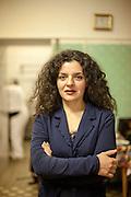 Managerin Lela Kukava aus Georgien in der Küche des Ethnocatering Service in Prag.