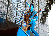 Chevelle performing at the Carnival of Madness at the Time Warner Cable Amphitheater in Cleveland, OH on August 9, 2010