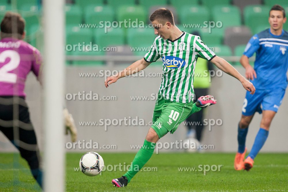Andraz Sporar #10 of Olimpija during football match between NK Olimpija and ND Gorica in 21st Round of Slovenian First League PrvaLiga NZS 2012/13 on December 1st, 2012 in Arena Stozice, Ljubljana, Slovenia (photo by Urban Urbanc / Sportida.com)