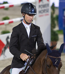 22.09.2012, Rathausplatz, Wien, AUT, Global Champions Tour, Vienna Masters, Grosser Preis von Wien, im Bild Richard Spooner (USA) auf Cristallo// during Vienna Masters of Global Champions Tour, Grand Prix of Vienna at the Rathausplatz, Vienna, Austria on 2012/09/22. EXPA Pictures © 2012, PhotoCredit: EXPA/ Sebastian Pucher