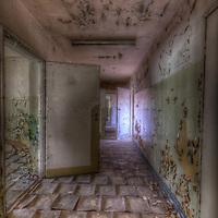 Old unused Soviet sports hospital in East Germany