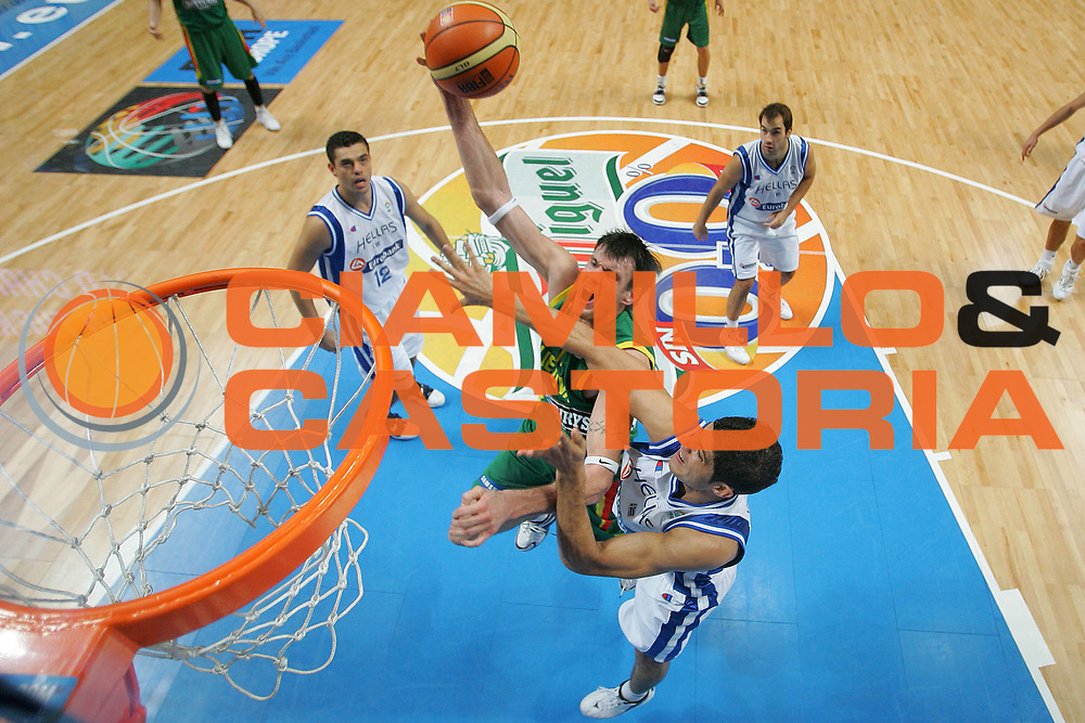 DESCRIZIONE : Madrid Spagna Spain Eurobasket Men 2007 Final 3rd 4th Place Grecia Lituania Greece Lithuania <br /> GIOCATORE : Ksistof Lavrinovic <br /> SQUADRA : Lituania Lithuania <br /> EVENTO : Eurobasket Men 2007 Campionati Europei Uomini 2007 <br /> GARA : Grecia Lituania Greece Lithuania <br /> DATA : 16/09/2007 <br /> CATEGORIA : Special San Miguel <br /> SPORT : Pallacanestro <br /> AUTORE : Ciamillo&amp;Castoria/S.Silvestri <br /> Galleria : Eurobasket Men 2007 <br /> Fotonotizia : Madrid Spagna Spain Eurobasket Men 2007 Final 3rd 4th Place Grecia Lituania Greece Lithuania <br /> Predefinita :