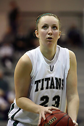29 January 2011: Olivia Lett during an NCAA Womens basketball game between the Carthage Reds and the Illinois Wesleyan Titans at Shirk Center in Bloomington Illinois.