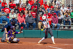 NORMAL, IL - April 06: Brittni LaFountaine during a college women's softball game between the ISU Redbirds and the University of Northern Iowa Panthers on April 06 2019 at Marian Kneer Field in Normal, IL. (Photo by Alan Look)<br /> <br /> Umpire: Marc Drouillard