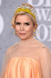 Paloma Faith attending the Brit Awards 2019 at the O2 Arena, London. Photo credit should read: Doug Peters/EMPICS. EDITORIAL USE ONLY