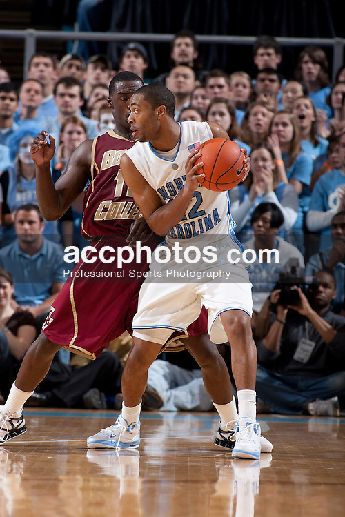 04 January 2009: North Carolina Tar Heels guard Wayne Ellington (22) during a 78-85 loss to the Boston College Eagles at the Dean Smith Center in Chapel Hill, NC.