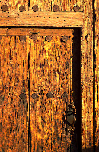 Small door in larger one main entrance 200 & Small door in larger one main entrance 200-yr.-old mesquite doors ...