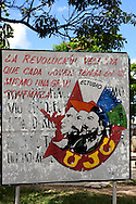 Revolutionary sign in Camaguey, Cuba.