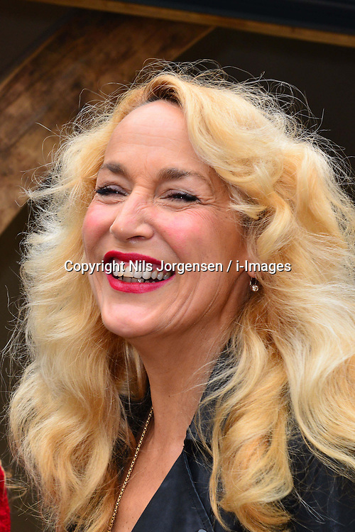 Jerry Hall during the RHS Chelsea Flower Show 2013, London, United Kingdom, May 20, 2013. Photo by: Nils Jorgensen / i-Images