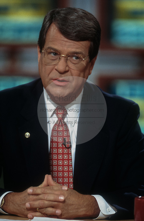 WASHINGTON, DC, USA - 1997/04/06: U.S. Senate Majority Leader Trent Lott of Mississippi on NBC's Meet the Press April 6, 1997 in Washington, DC.     (Photo by Richard Ellis)