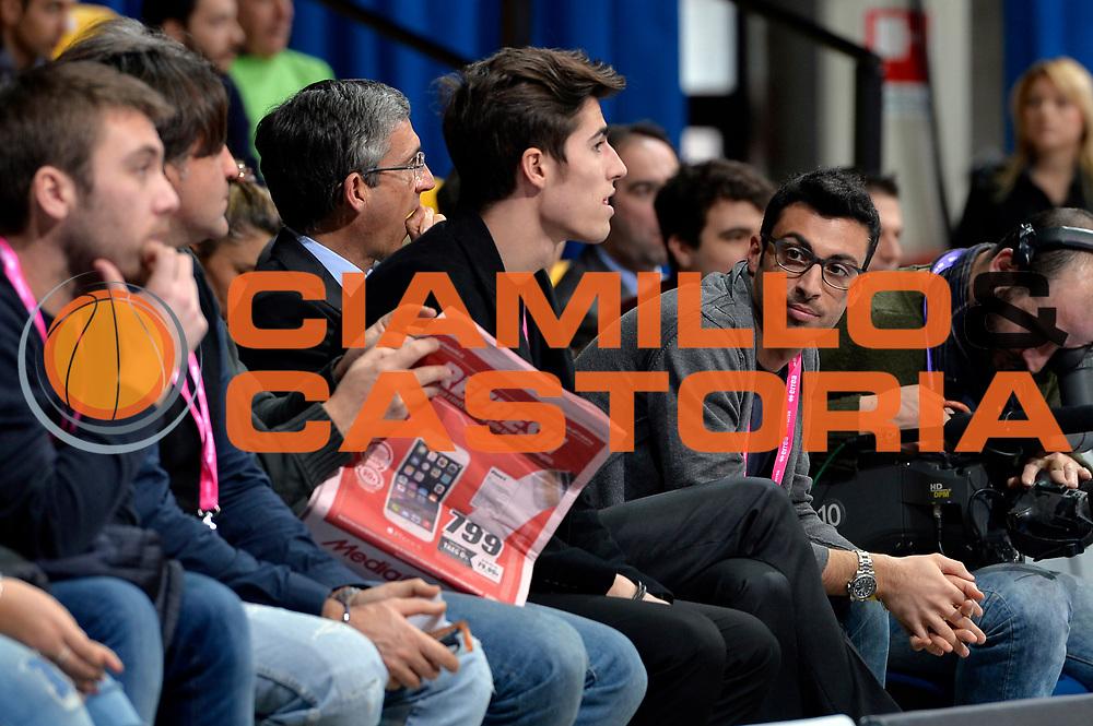 DESCRIZIONE : Final Eight Coppa Italia 2015 Desio Quarti di Finale Umana Reyer Venezia - Enel Brindisi<br /> GIOCATORE : Tullio Marino<br /> CATEGORIA : vip<br /> SQUADRA : Enel Brindisi<br /> EVENTO : Final Eight Coppa Italia 2015 Desio<br /> GARA : Umana Reyer Venezia - Enel Brindisi<br /> DATA : 20/02/2015<br /> SPORT : Pallacanestro <br /> AUTORE : Agenzia Ciamillo-Castoria/Max.Ceretti