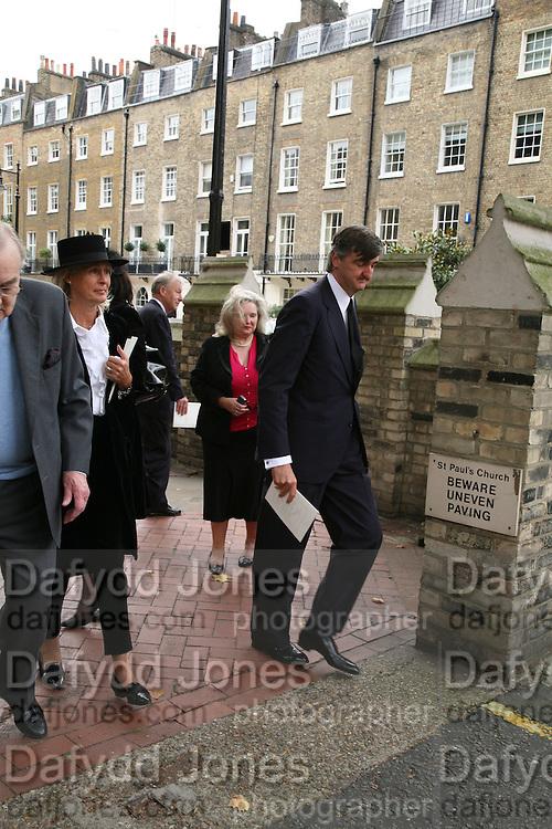 Robin Birley, Mark Birley funeral. St Paul's , Knightsbridge. London. 19 September 2007. -DO NOT ARCHIVE-© Copyright Photograph by Dafydd Jones. 248 Clapham Rd. London SW9 0PZ. Tel 0207 820 0771. www.dafjones.com.