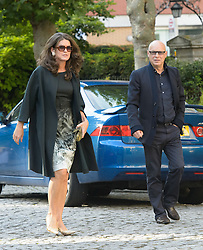 Brian Eno arrives for the wedding of  Wikipedia founder, Jimmy Wales  and former diary secretary to Tony Blair, Kate Garvey at Wesley's Chapel, City of London, October 6, 2012. Photo by Fiona Hanson / i-Images.