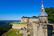 Festung Königstein, Seigerturm, Elbsandsteingebirge, Sächsische Schweiz, Sachsen, Deutschland.|.Fortress Koenigstein, Saxon Switzerland, Saxony, Germany.