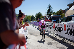 Anna van der Breggen begins Stage 5 of the Giro Rosa - a 12.7 km individual time trial, starting and finishing in Sant'Elpido A Mare on July 4, 2017, in Fermo, Italy. (Photo by Sean Robinson/Velofocus.com)