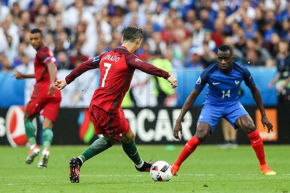 Cristiano Ronaldo from Portugal during the match against France. Portugal won the Euro Cup beating in the final home team France at Saint Denis stadium in Paris, after winning on extra-time by 1-0.