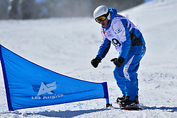 Snowboarder Cross Action, CODINA THOMATIS Carlos Javier, ARG at the 2016 IPC Snowboard Europa Cup Finals and World Cup