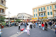 Israel, Tel Aviv, Neve Shaanan neighbourhood Pedestrian street