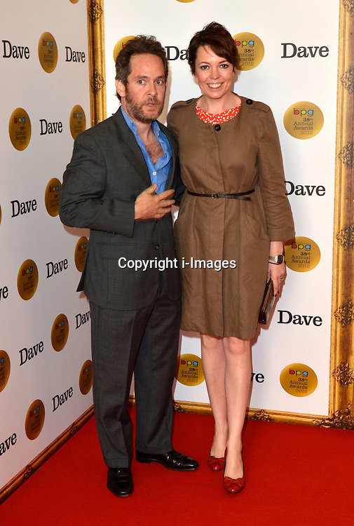 Tom Hollander & Olivia Colman attend The BPG Awards 2012, sponsored by UKTV's entertainment channel Dave, Friday, 30th March 2012.  Photo by: Chris Joseph / i-Images
