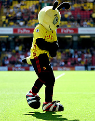 Watford's mascot Harry the Hornet on the pitch before the Premier League match at Vicarage Road, Watford.