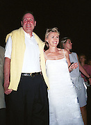 Tina Brown and  head of Disney. Talk magazine launch. New York. 2 September 1999.<br />