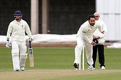 Kieran Noema-Barnett of Gloucestershire bowls - Mandatory by-line: Robbie Stephenson/JMP - 01/04/2016 - CRICKET - Bristol County Ground - Bristol, United Kingdom - Gloucestershire v Durham MCC University - MCC University Match