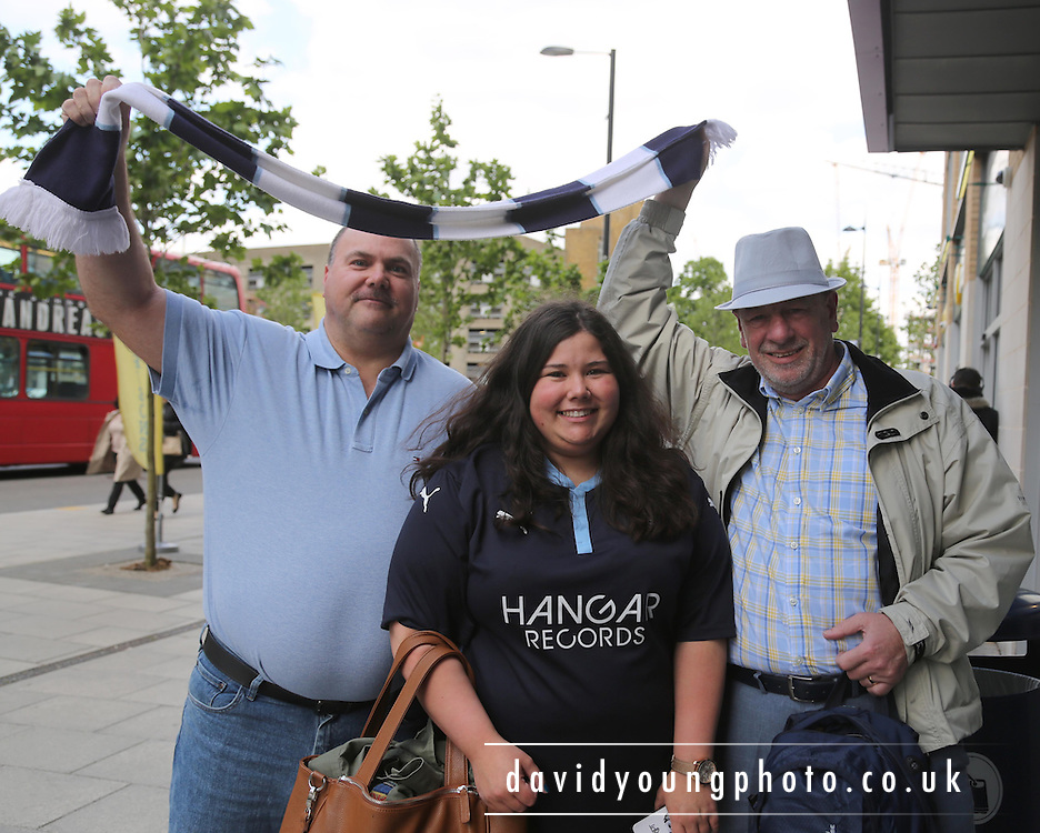 Dundee fans in Croydon for Crystal Palace v Dundee - Julian Speroni testimonial match at Selhurst Park<br /> <br />  - &copy; David Young - www.davidyoungphoto.co.uk - email: davidyoungphoto@gmail.com