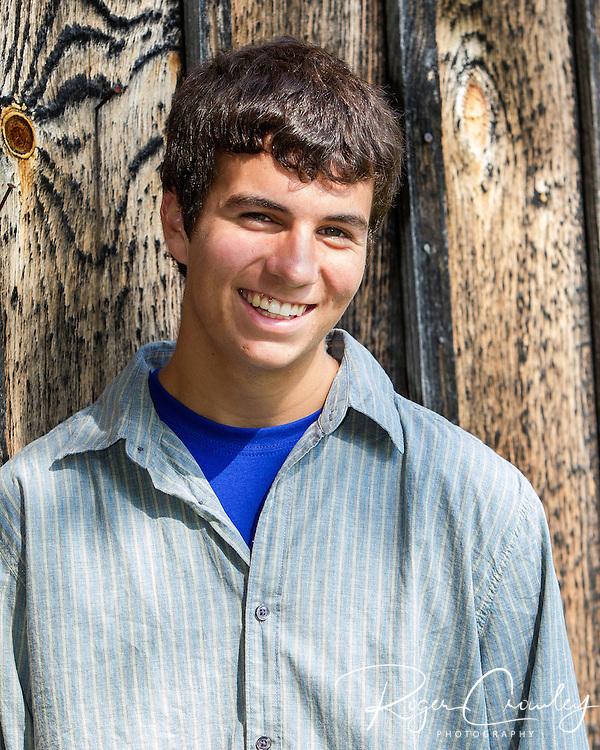 Senior portrait of Matthew Murray in Montpelier Vermont 2012.