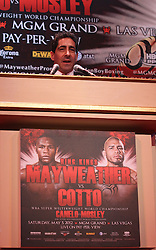 Feb 28; New York, NY, USA; HBO's Ken Hershman during the press conference announcing fight between Floyd Mayweather and Miguel Cotto. The two will meet May 5, 2012 at the MGM Grand Garden Arena in Las Vegas, NV.