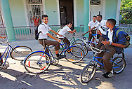 School kids at Punta Gorda in Cienfuegos, Cuba.