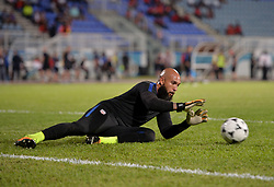 October 10, 2017 - Couva, Caroni County, Trinidad & Tobago - Couva, Trinidad & Tobago - Tuesday Oct. 10, 2017: Tim Howard during a 2018 FIFA World Cup Qualifier between the men's national teams of the United States (USA) and Trinidad & Tobago (TRI) at Ato Boldon Stadium. (Credit Image: © John Todd/ISIPhotos via ZUMA Wire)