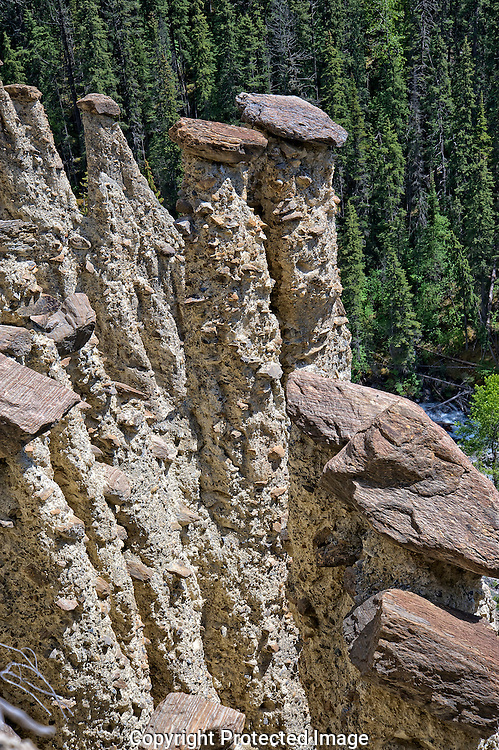 Hoodoos at Hooodoo Creek., British Columbia, canada, Isobel Springett