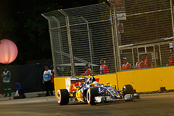 September 16, 2016 - Singapur, Singapur - Motorsports: FIA Formula One World Championship 2016, Grand Prix of Singapore, .#9 Marcus Ericsson (SWE, Sauber F1 Team) (Credit Image: © Hoch Zwei via ZUMA Wire)