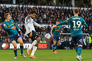 Tom Huddleston  clears the ball during the EFL Sky Bet Championship match between Derby County and Hull City at the Pride Park, Derby, England on 18 January 2020.