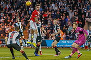 George Oakley of Hamilton comes painfully close to connecting during the Ladbrokes Scottish Premiership match between St Mirren and Hamilton Academical FC at the Paisley 2021 Stadium, St Mirren, Scotland on 13 May 2019.
