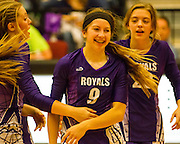 CCS' Kayli Nail laughs with teammates Friday after beating Oklahoma Union - Nicholas Rutledge/For The Transcript (Published on Saturday, October 11, 2014)