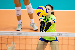 Veronika Mikl of Slovenia during volleyball match between National teams of Slovenia and Belgium in 4th Qualification Round of 2019 CEV Volleyball Women's European Championship, on August 25, 2018 in Sports hall Tabor, Maribor, Slovenia. Photo by Urban Urbanc / Sportida