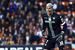 February 28, 2019 - Valencia, Spain - Joel of Real Betis Balompie During Spanish King La Copa match between  Valencia cf vs Real Betis Balompie Second leg  at Mestalla Stadium on February 28, 2019. (Photo by Jose Miguel Fernandez/NurPhoto) (Credit Image: © Jose Miguel Fernandez/NurPhoto via ZUMA Press)