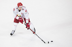 Dmitri Korobov of Belarus during the 2017 IIHF Men's World Championship group B Ice hockey match between National Teams of France and Belarus, on May 12, 2017 in AccorHotels Arena in Paris, France. Photo by Vid Ponikvar / Sportida