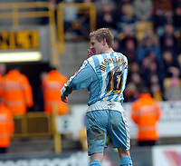 Photo: Kevin Poolman.<br />Wolverhampton Wanderers v Coventry City. Coca Cola Championship. 08/04/2006. Coventry's Gary McSheffrey after his goal.
